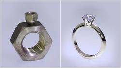 Trời ơi tin được không: nghệ nhân biến 2 chiếc ốc vít trở thành nhẫn kim cương đẹp lung linh