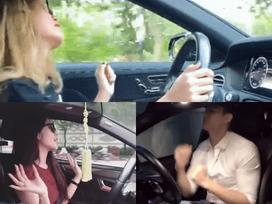 Loạt sao Việt bất chấp nạn 'xe điên', biến vô lăng thành sàn nhảy khi lái xe giữa đường mà ngáo ngơ như chốn không người