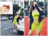 Tình trong mộng của Trường Giang vô tư mặc quần tập mỏng dính nhạy cảm ra đường