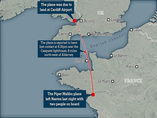 Máy bay chở tân binh đắt nhất lịch sử Cardiff City mất tích-3