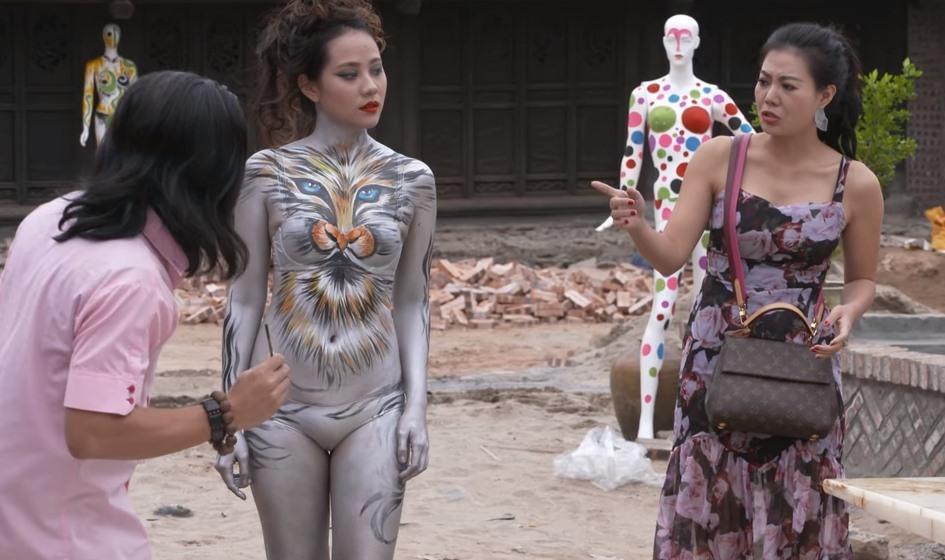 Quang Tèo và mẫu nude body painting gây phản cảm trong hài Tết: Sự thật ngã ngửa-4