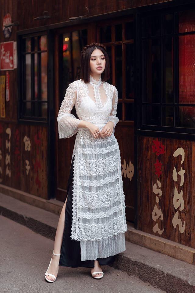 Hàng loạt mỹ nhân lên đồ với áo dài cách tân: Mai Phương và Bích Phương dịu dàng; Ngô Thanh Vân, Quỳnh Chi ma mị-6