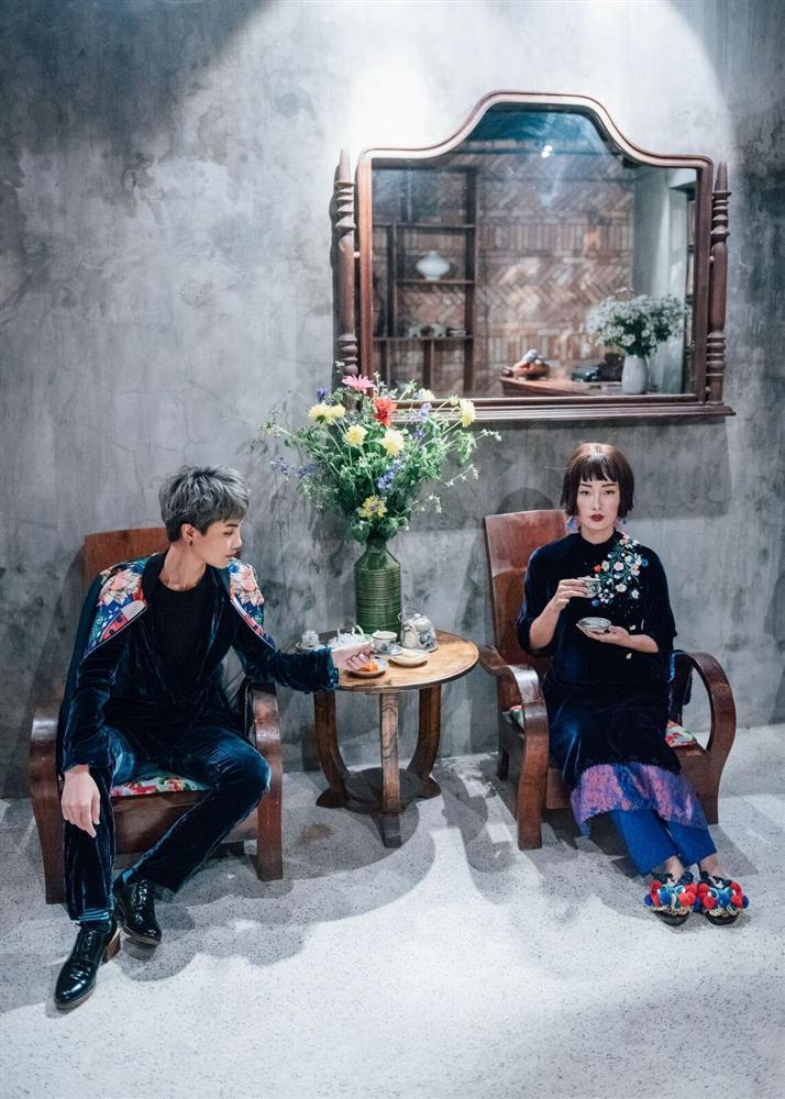 Hàng loạt mỹ nhân lên đồ với áo dài cách tân: Mai Phương và Bích Phương dịu dàng; Ngô Thanh Vân, Quỳnh Chi ma mị-13
