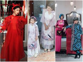 Hàng loạt mỹ nhân 'lên đồ' với áo dài cách tân: Mai Phương và Bích Phương dịu dàng; Ngô Thanh Vân, Quỳnh Chi ma mị