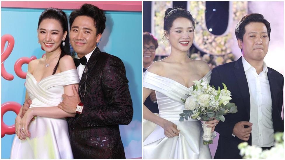 Lần thứ 2 đụng hàng với Nhã Phương, Hari Won mặc luôn váy cưới của vợ Trường Giang lên thảm đỏ-9