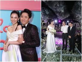 Lần thứ 2 đụng hàng với Nhã Phương, Hari Won mặc luôn váy cưới của vợ Trường Giang lên thảm đỏ