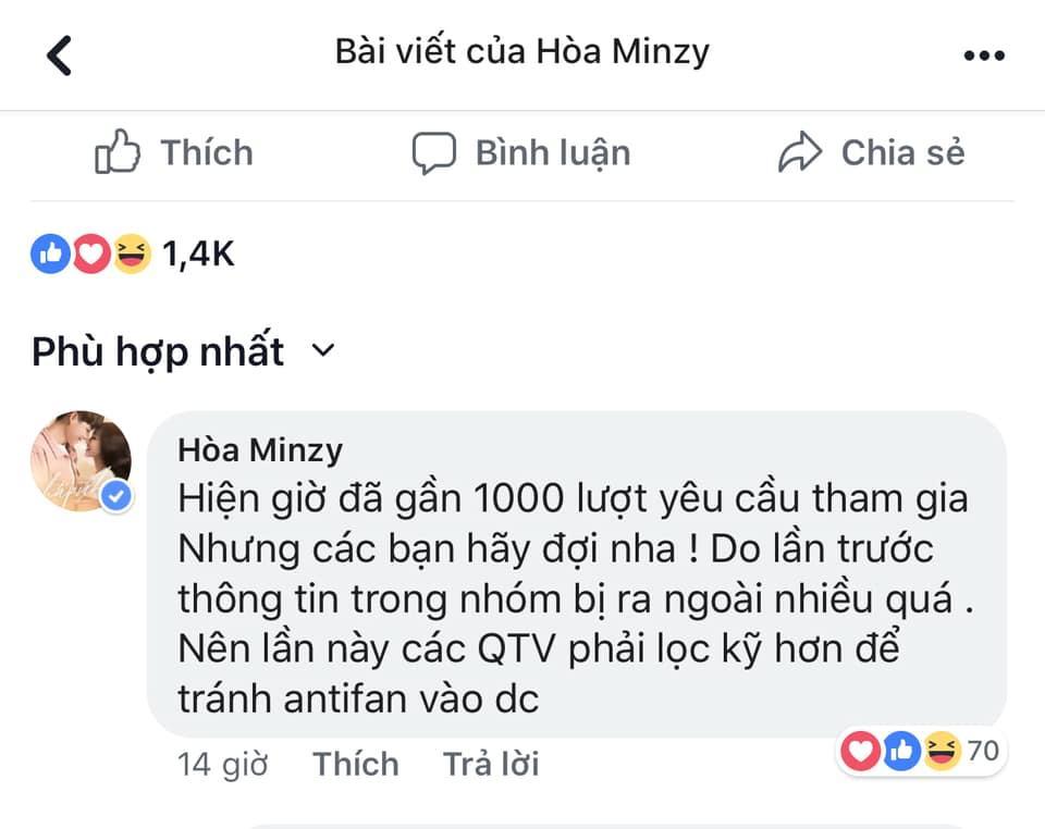Vận đen chưa buông, Hòa Minzy lại bị chỉ trích kiêu căng vì đòi lọc fans thật kỹ-5