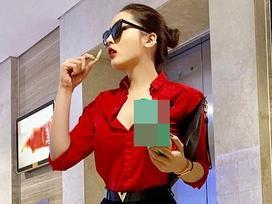 Công việc dày đặc, Hoa hậu Kỳ Duyên đành ăn vội gói bim bim để chạy show cận Tết