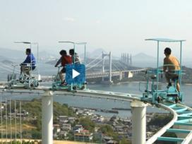 'Toát mồ hôi' với trải nghiệm đạp xe trên không ở Nhật Bản