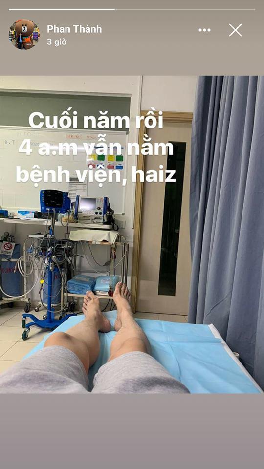 Bạn gái vừa xác nhận chia tay, Phan Thành lại gây xôn xao khi khoe ảnh nằm trong bệnh viện-2