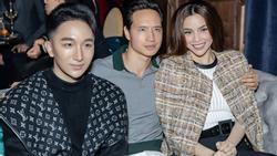 Hà Hồ luôn nắm chặt tay Kim Lý trong suốt concert của Hoàng Rob