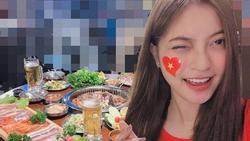 Bị 'soi' nhan sắc xấu nhất trong hội bạn gái cầu thủ, bạn gái Quang Hải mỉa mai lại hãy sống 'sang' lên