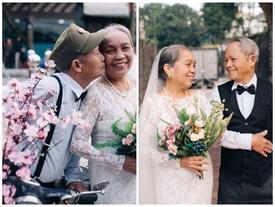 Phát sốt bộ ảnh kỉ niệm 65 năm ngày cưới của cặp vợ chồng già: 'Ông ngày nào cũng hỏi bà có còn yêu anh không?