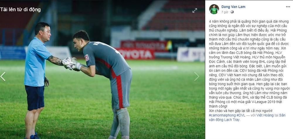 Đặng Văn Lâm chính thức nói lời chia tay CLB Hải Phòng trước khi đầu quân cho đội bóng nước ngoài-1