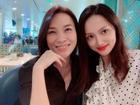 Khoe ảnh hội ngộ 'người thầy đầu tiên' Mỹ Tâm, Hoa hậu Chuyển giới Hương Giang Idol lập tức gây sốt mạng xã hội