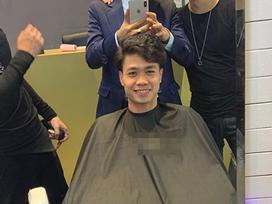 Làm điệu ăn Tết: Công Phượng tạm biệt mái tóc 'súp lơ', khoe vẻ bảnh bao như trai Hàn