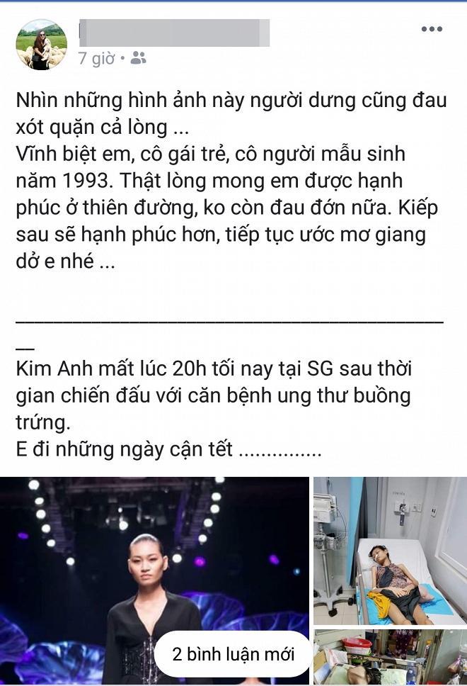 Người mẫu 9x Kim Anh qua đời ở tuổi 26 sau thời gian điều trị ung thư buồng trứng giai đoạn cuối-3