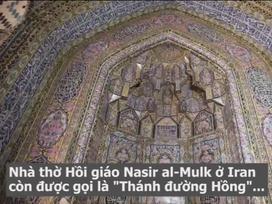 Nhà thờ Hồi giáo ở Iran biến thành kính vạn hoa khi đón nắng chiếu qua