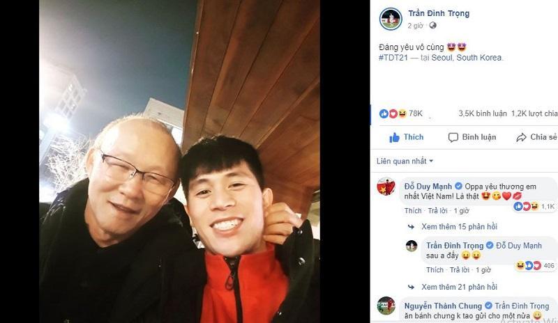Vừa về Hàn Quốc sau hành trình Asian Cup, thầy Park đã đến thăm Đình Trọng, Xuân Hưng-1