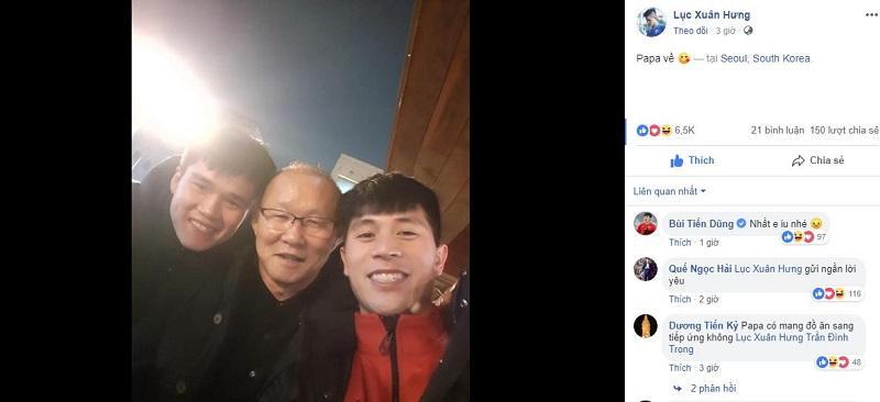 Vừa về Hàn Quốc sau hành trình Asian Cup, thầy Park đã đến thăm Đình Trọng, Xuân Hưng-2