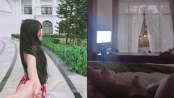 Không chỉ mặc áo mưa đôi, bạn gái Lâm Tây còn khoe hẳn ảnh tế nhị của hai người trên giường?