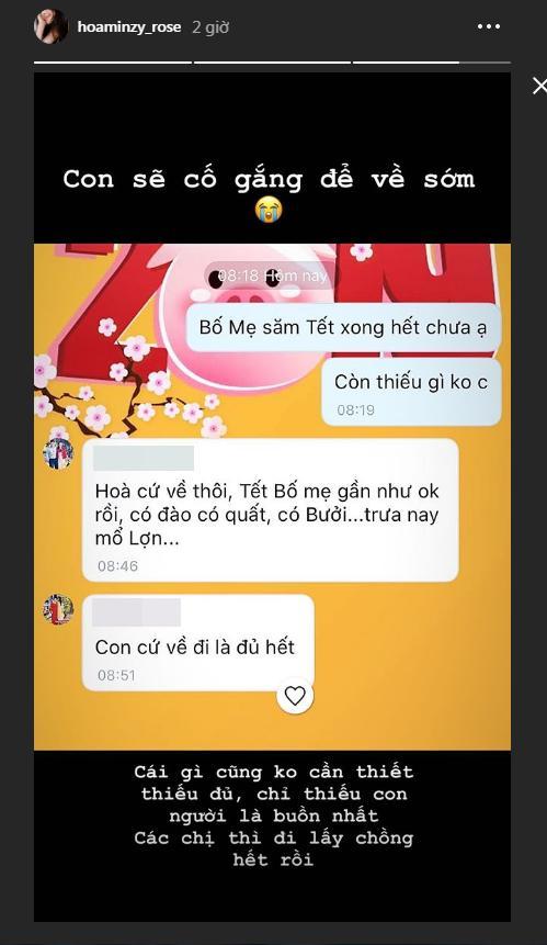 Hòa Minzy nhắn về quê hỏi bố mẹ sắm Tết đủ chưa, đấng sinh thành chỉ đáp một câu nhưng gây xúc động mạnh-1