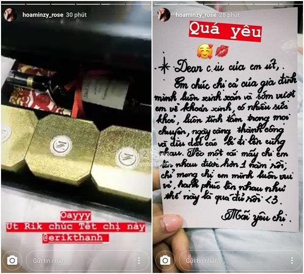 Viết thư chúc Tết gửi Hòa Minzy, Erik khiến dân tình lộn ruột với lời nhắn: Mong chị sớm vượt em về khoản xinh-1