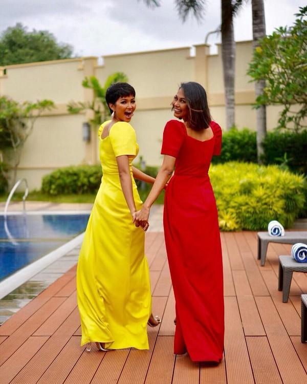 Vừa gặp mặt, HHen Niê liền đọ trình catwalk siêu xịn với Hoa hậu đẹp nhất thế giới 2010 Venus Raj-2