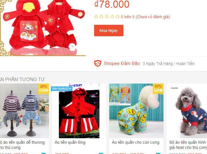 Bốn triệu đồng 1 bộ áo quần Tết cho chó mèo trưng diện-1