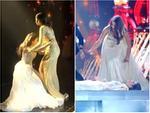 HẾT HỒN: Lăn đùng bất tỉnh trên sân khấu, Hoa hậu Hòa bình 2018 được trao giải 'Đăng quang ấn tượng'