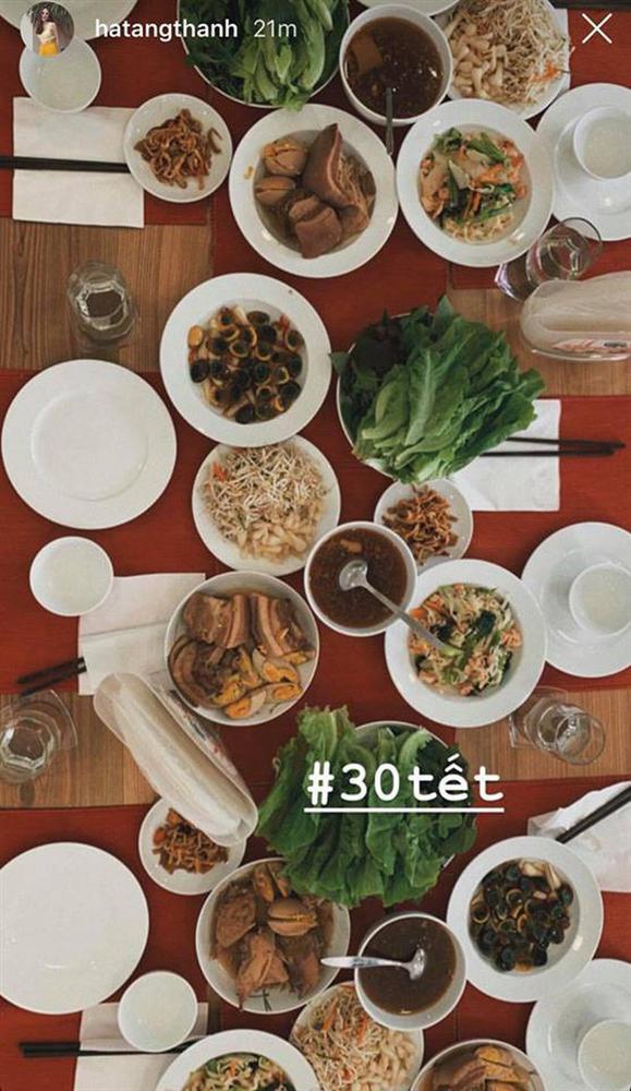 Tăng Thanh Hà, Ngọc Lan khoe bữa cơm, mâm cúng ông bà 30 Tết-2