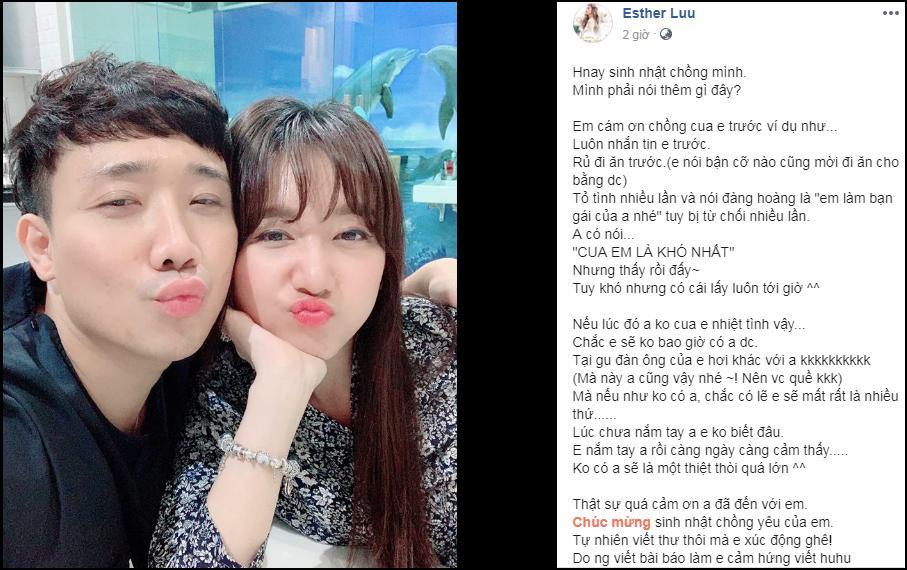 Đúng sinh nhật Trấn Thành, Hari Won bất ngờ công khai quá khứ nhiều lần từ chối lời tỏ tình của ông xã-1