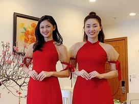 Cặp chị em Á hậu Ngô Trà My - Ngô Thanh Thanh Tú giống nhau như hai giọt nước khi diện áo dài đôi