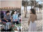 Đức Chinh cười tươi âu yếm, Hà Trang bẽn lẽn trong ngày ra mắt gia đình bạn trai nhưng phong cách của cô nàng mới là điều gây chú ý