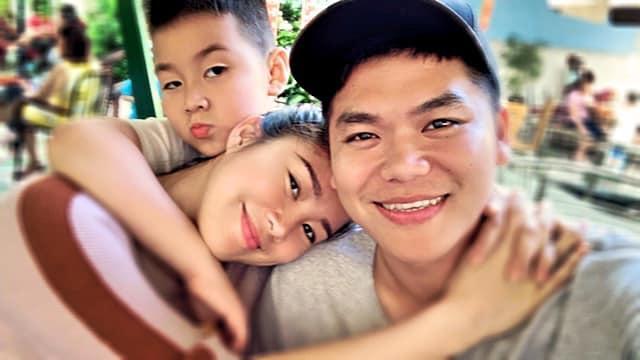 Lê Phương hạnh phúc khi chồng kém tuổi đưa con trai riêng về quê ăn Tết-1