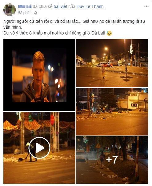 Khủng khiếp: Rác ngập tràn các con đường ở Đà Lạt sau 5 ngày Tết?-9