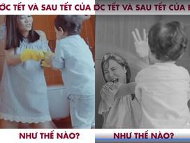 'Cười té ghế' với clip mô tả sự thay đổi trước và sau Tết của Thu Minh
