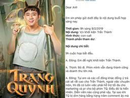 Ê kíp phim 'Trạng Quỳnh' đòi khởi kiện Trấn Thành, Đức Thịnh phản đối: 'Tôi sẽ bảo vệ cậu ấy đến cùng'