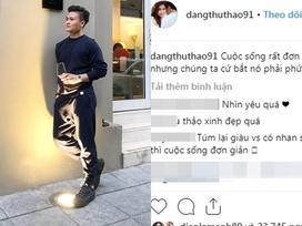 Đăng ảnh sống ảo cực bảnh bao, Quang Hải bị soi dùng lại caption của Hoa hậu Đặng Thu Thảo