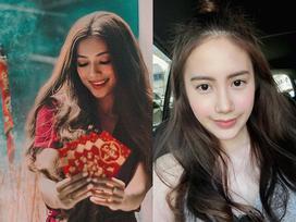 Hai hot girl gốc Việt nổi tiếng đã ăn Tết ở Việt Nam thế nào?
