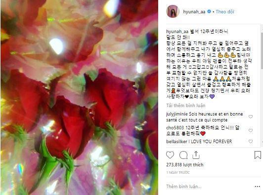 Nữ hoàng gợi cảm HyunA kỷ niệm 12 năm theo showbiz-1