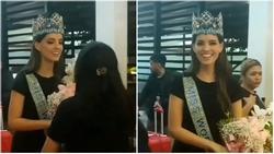 Camera dởm đến mấy cũng không thể 'dìm' nổi nhan sắc tuyệt trần của đương kim Hoa hậu Thế giới