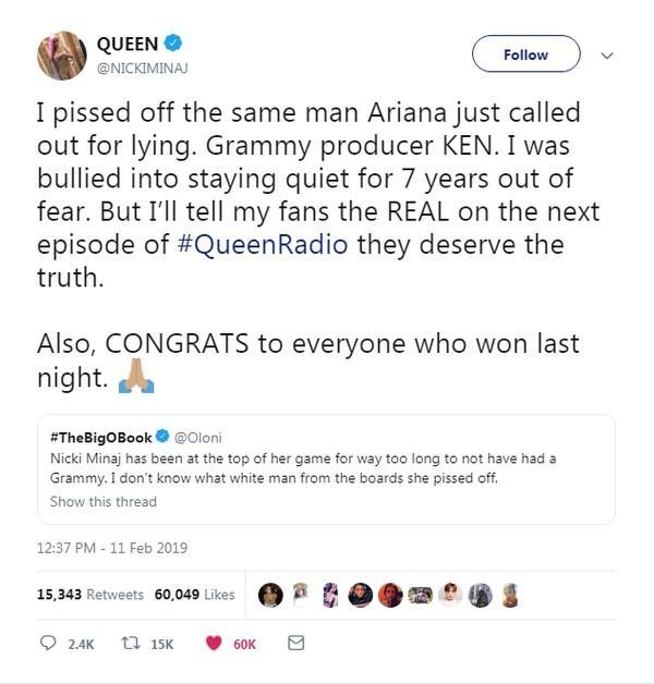 Sốc: Nicki Minaj bị thành viên hội đồng Grammy bắt nạt và buộc phải giữ im lặng suốt 7 năm-3