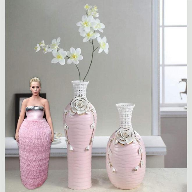 Chiếc đầm hồng thảm họa của Katy Perry ở Grammy 2019 trở thành nguồn cảm hứng chế ảnh siêu lầy-7