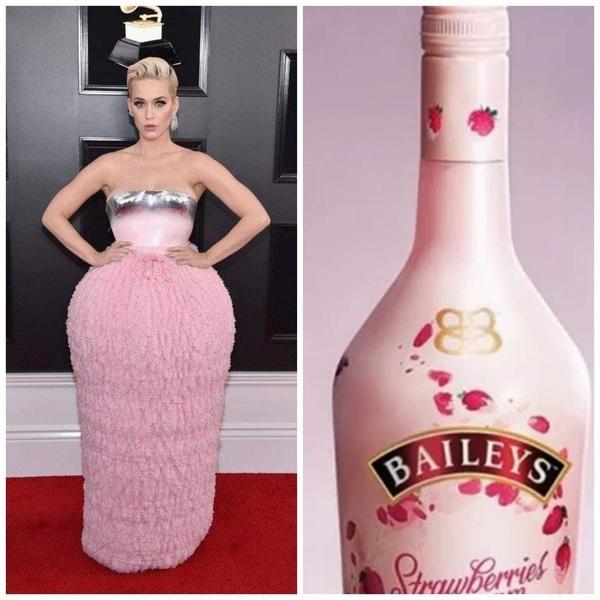 Chiếc đầm hồng thảm họa của Katy Perry ở Grammy 2019 trở thành nguồn cảm hứng chế ảnh siêu lầy-8