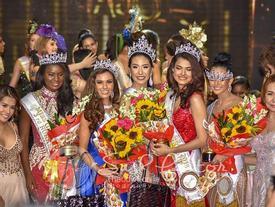 Tân Hoa hậu Toàn cầu kém sắc nhưng cách đội vương miện lạ đời của á hậu mới gây chú ý!