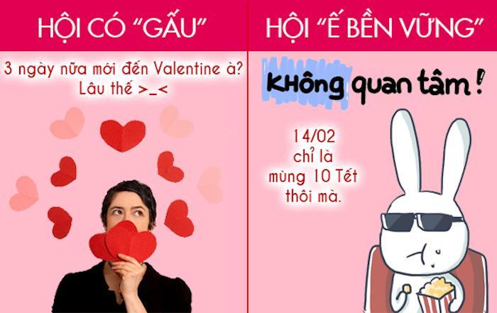 Ảnh: Sự khác biệt giữa hội độc thân và hội có gấu trong ngày Valentine-1