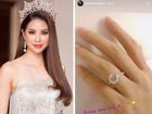 Khoe nhẫn kim cương trên ngón áp út, Hoa hậu Phạm Hương bất ngờ công khai đã đính hôn