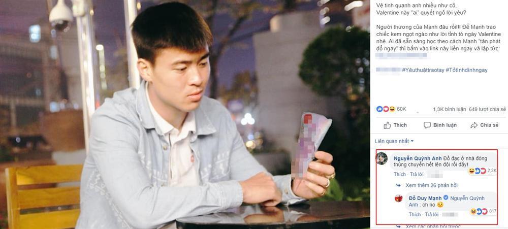 Quảng cáo bất chấp thả thính gái lạ, Đỗ Duy Mạnh bị bạn gái thẳng tay tiễn đúng dịp Valentine-1