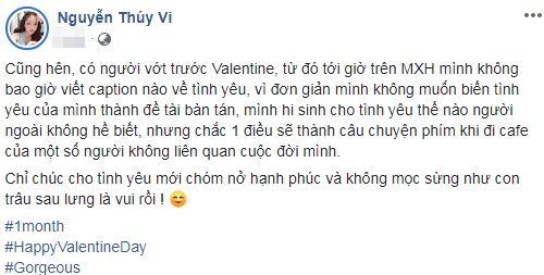 Hên vì có người vớt trước Valentine, Thúy Vi tự chúc cho tình yêu chớm nở không bị mọc sừng-1